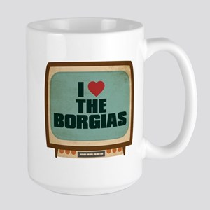 Retro I Heart The Borgias Large Mug