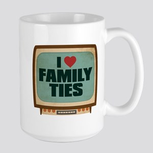 Retro I Heart Family Ties Large Mug