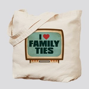 Retro I Heart Family Ties Tote Bag