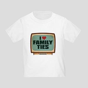 Retro I Heart Family Ties Infant/Toddler T-Shirt