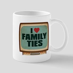 Retro I Heart Family Ties Mug