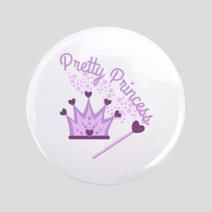 """Pretty Princess 3.5"""" Button"""