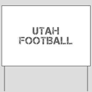 UTAH football-cap gray Yard Sign