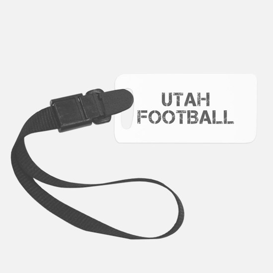 UTAH football-cap gray Luggage Tag