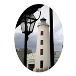New Orleans Light House Oval Ornament