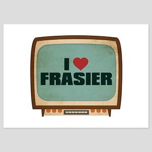 Retro I Heart Frasier 5x7 Flat Cards