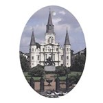 Saint Louis Cathedral Oval Ornament