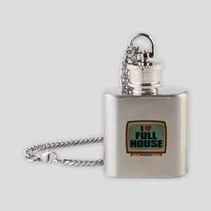 Retro I Heart Full House Flask Necklace