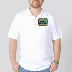 Retro I Heart General Hospital Golf Shirt