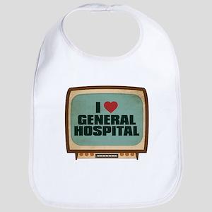 Retro I Heart General Hospital Bib