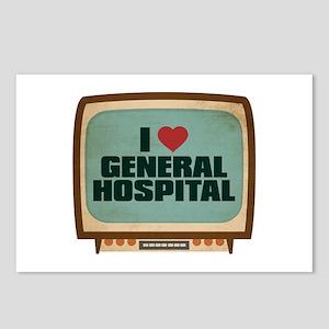 Retro I Heart General Hospital Postcards (Package