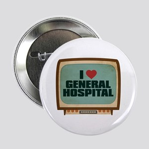 "Retro I Heart General Hospital 2.25"" Button"