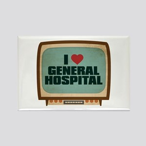 Retro I Heart General Hospital Rectangle Magnet