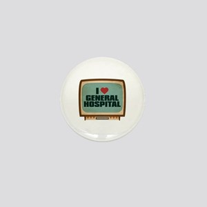 Retro I Heart General Hospital Mini Button