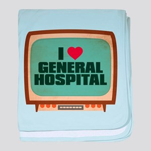 Retro I Heart General Hospital Infant Blanket