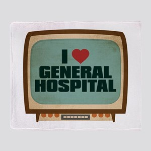 Retro I Heart General Hospital Stadium Blanket