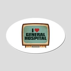 Retro I Heart General Hospital 22x14 Oval Wall Pee