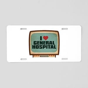 Retro I Heart General Hospital Aluminum License Pl