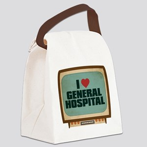 Retro I Heart General Hospital Canvas Lunch Bag