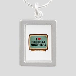Retro I Heart General Hospital Silver Portrait Nec