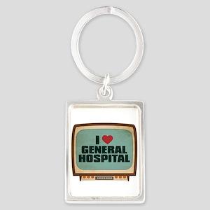 Retro I Heart General Hospital Portrait Keychain