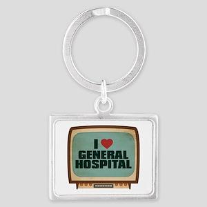 Retro I Heart General Hospital Landscape Keychain