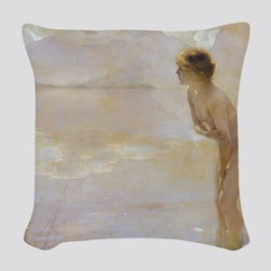 Paul Chabas September Morn Woven Throw Pillow