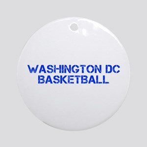 WASHINGTON DC basketball-cap blue Ornament (Round)