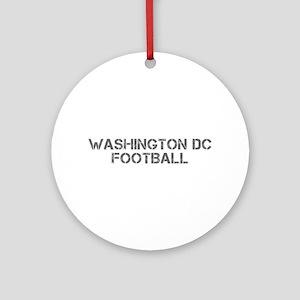WASHINGTON DC football-cap gray Ornament (Round)