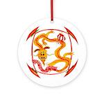 Japanese Dragon Ornament (Round)