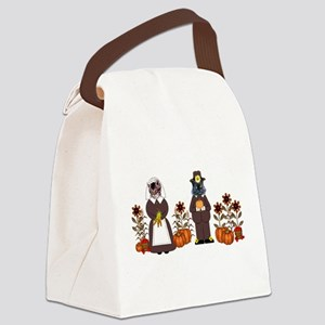 Thanksgiving Cats Canvas Lunch Bag