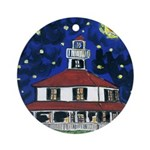 Lake Shore Lighthouse Round Ornament