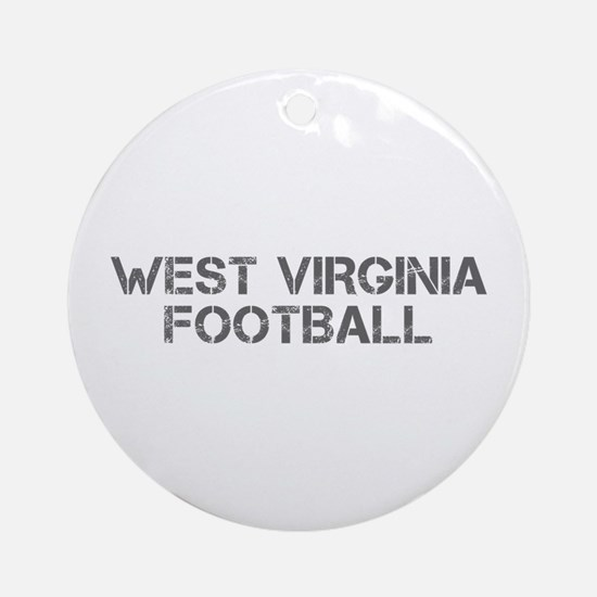 WEST VIRGINIA football-cap gray Ornament (Round)