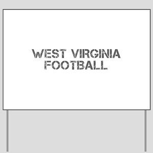 WEST VIRGINIA football-cap gray Yard Sign