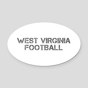 WEST VIRGINIA football-cap gray Oval Car Magnet