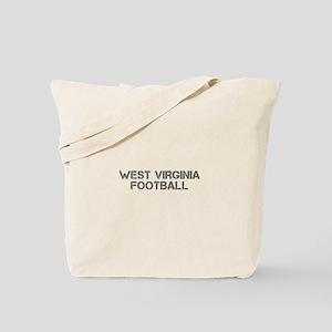 WEST VIRGINIA football-cap gray Tote Bag