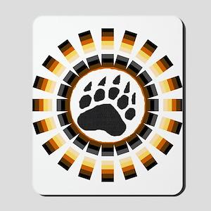 ROUND BEAR PRIDE DESIGN/PAW Mousepad