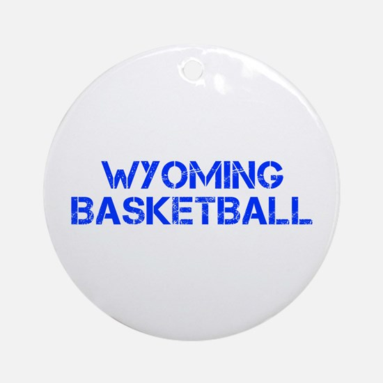 WYOMING basketball-cap blue Ornament (Round)