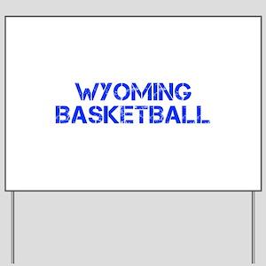 WYOMING basketball-cap blue Yard Sign