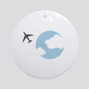 Travel The World Ornament (Round)