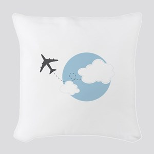 Travel The World Woven Throw Pillow