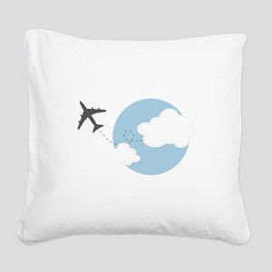 Travel The World Square Canvas Pillow