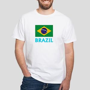 Brazil Flag Classic Blue Design T-Shirt
