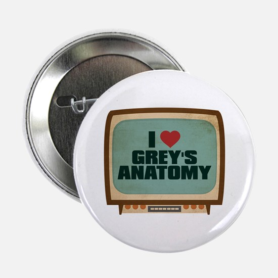 "Retro I Heart Grey's Anatomy 2.25"" Button"
