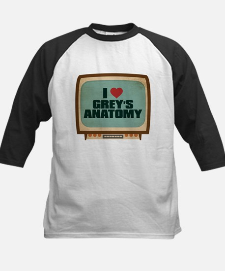 Retro I Heart Grey's Anatomy Kids Baseball Jersey