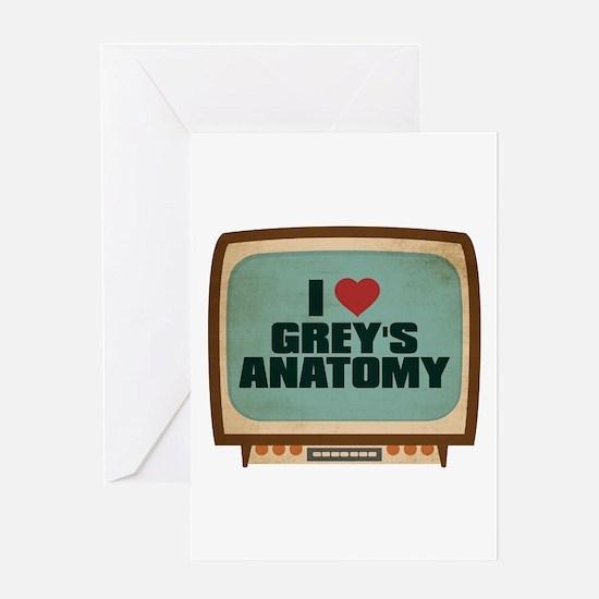 Retro I Heart Grey's Anatomy Greeting Card