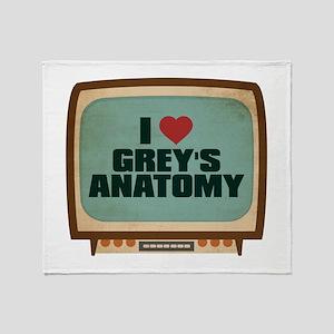 Retro I Heart Grey's Anatomy Stadium Blanket