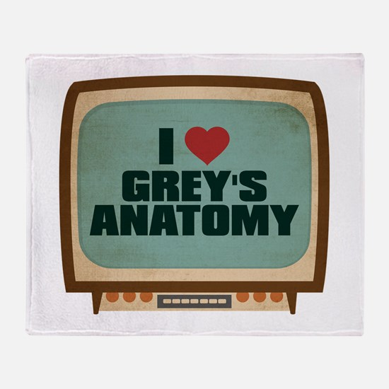 Retro I Heart Grey's Anatomy Stadium Blanket