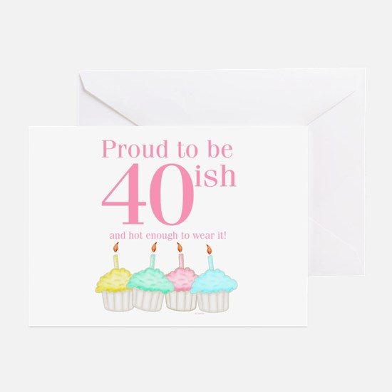 40ish Birthday Greeting Cards (Pk of 10)