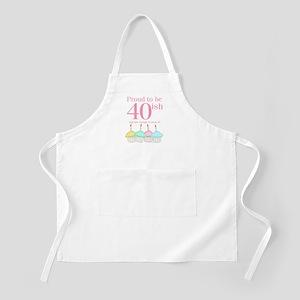 40ish Birthday BBQ Apron